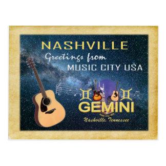 Cartão dos Gêmeos do zodíaco de Nashville