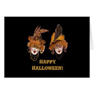 Cartão dos Ghouls do Dia das Bruxas