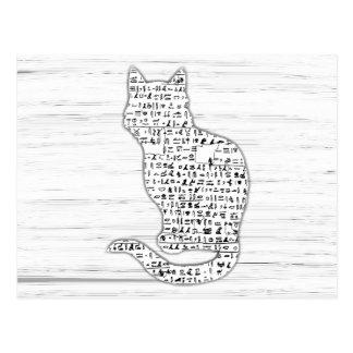 Cartão dos Hieroglyphics do gato