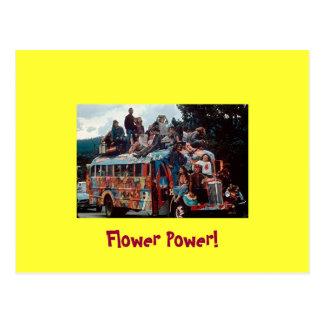 Cartão dos hippys dos anos sessenta