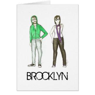 Cartão dos hipsteres da Nova Iorque NYC do hipster