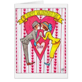 Cartão dos Kissers do dia dos namorados