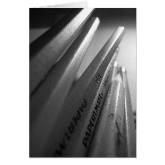 Cartão dos lápis
