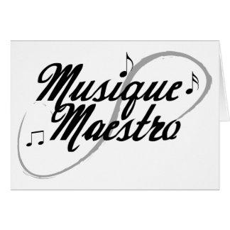 Cartão dos maestros da música toda a ocasião