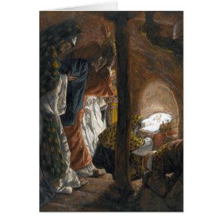 """Cartão dos Magi de Tissot """"a adoração"""""""