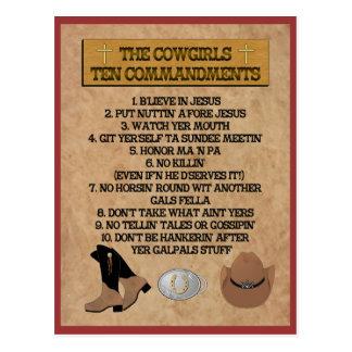 CARTÃO dos mandamentos da vaqueira 10