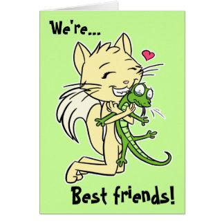 """Cartão dos """"melhores amigos"""""""