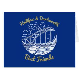 Cartão dos melhores amigos de Halifax Dartmouth