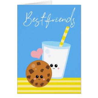 Cartão Dos melhores amigos leite para sempre BBF e