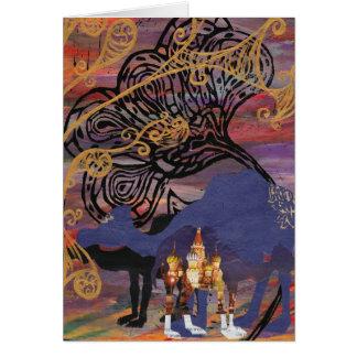 Cartão dos mundos do camelo