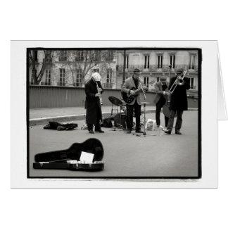 Cartão dos músicos da rua
