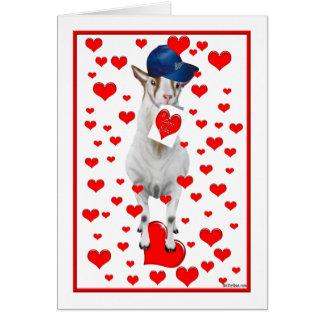 Cartão dos namorados da cabra de Billy