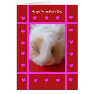 Cartão dos namorados da cobaia do miúdo