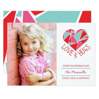 Cartão dos namorados da foto do amor e dos abraços convite 12.7 x 17.78cm