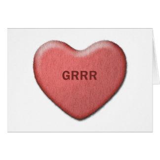 """Cartão dos namorados de """"Grrr"""""""