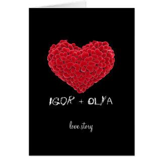 Cartão dos namorados de Love Story