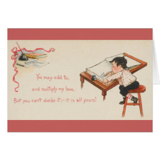 Cartão dos namorados do contador do vintage