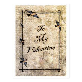 cartão dos namorados do estilo do victorian do