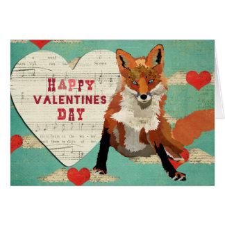 Cartão dos namorados do Fox vermelho