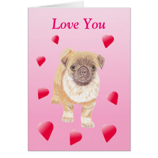 Cartão dos namorados do Pug