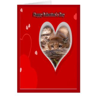 Cartão dos namorados do puma