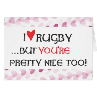 Cartão dos namorados do rugby - rugby do coração