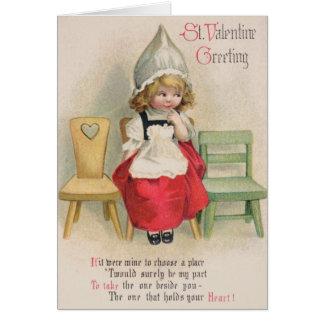 Cartão dos namorados do St. do Victorian