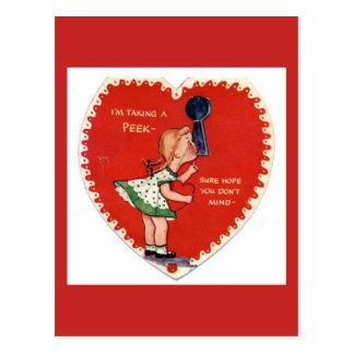 Cartão dos namorados do vintage