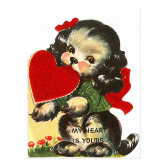 Cartão dos namorados   do vintage do coração   do