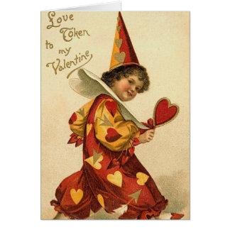 Cartão dos namorados do vintage para miúdos