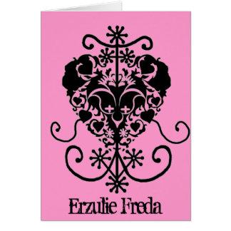 Cartão dos namorados do Voodoo - Erzulie Freda