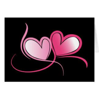 Cartão dos namorados dos corações