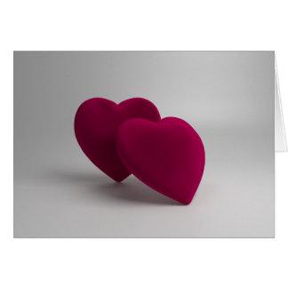cartão dos namorados dos corações 3D