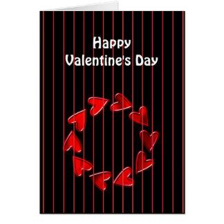 Cartão dos namorados dos corações do amor do feliz