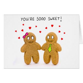 cartão dos namorados dos homens de pão-de-espécie