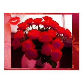 Cartão dos namorados II das rosas vermelhas - cust