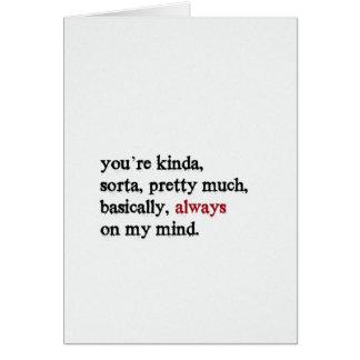 Cartão dos namorados. Você está sempre em minha