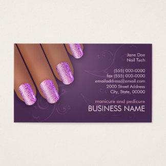 Cartão dos negócios & da nomeação do manicuro na