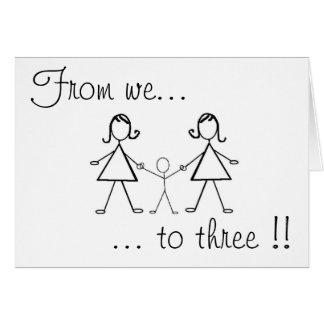 Cartão Dos nós a três!!