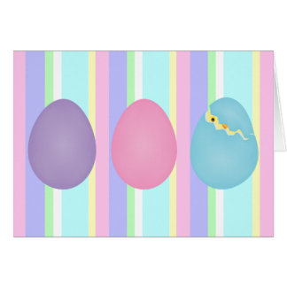 Cartão dos ovos da páscoa