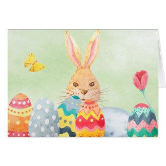 Cartão dos ovos da páscoa da aguarela