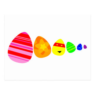 Cartão dos ovos da páscoa do arco-íris cartão postal