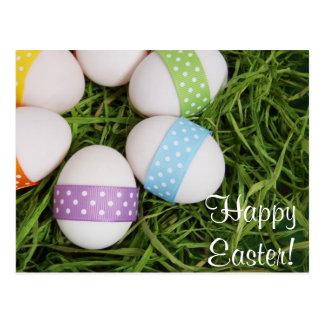 Cartão dos ovos de felz pascoa cartoes postais