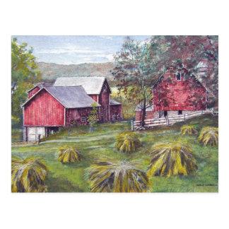 Cartão dos pacotes da fazenda do feno