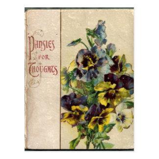 Cartão dos Pansies da capa do livro do Victorian