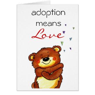 cartão dos parabéns da adopção