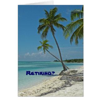 Cartão dos parabéns da aposentadoria da praia