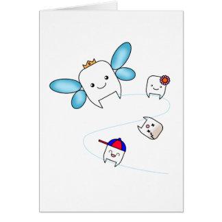Cartão dos parabéns da fada de dente