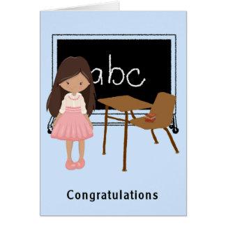 Cartão dos parabéns da graduação do jardim de