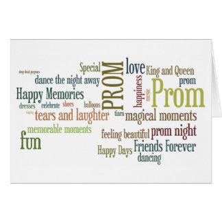 Cartão dos parabéns do baile de formatura da